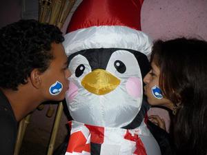 Drupal con Tux en navidad